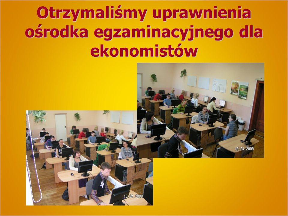 Otrzymaliśmy uprawnienia ośrodka egzaminacyjnego dla ekonomistów