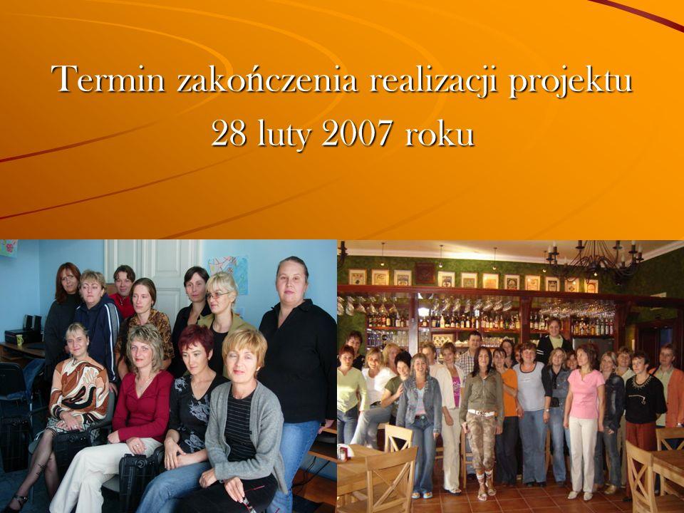 Termin zako ń czenia realizacji projektu 28 luty 2007 roku