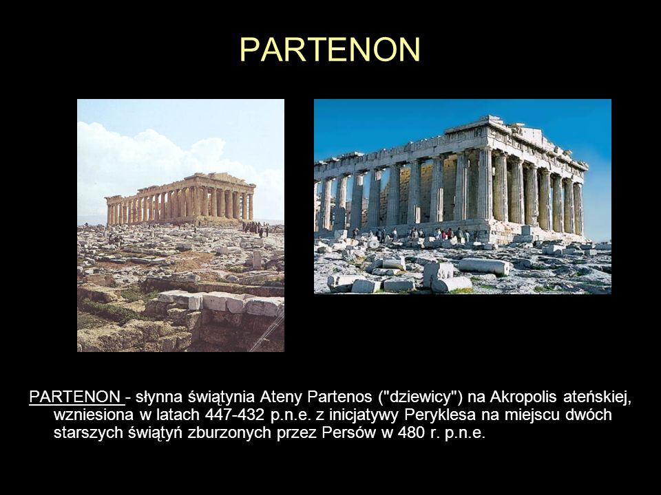 PARTENON PARTENON - słynna świątynia Ateny Partenos (