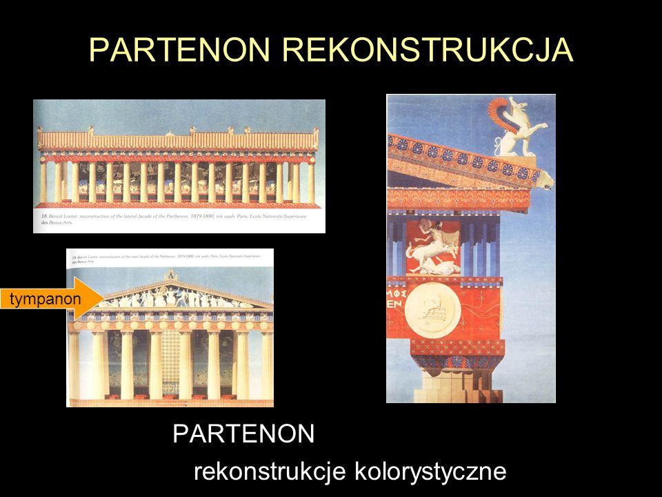 PARTENON REKONSTRUKCJA PARTENON rekonstrukcje kolorystyczne tympanon