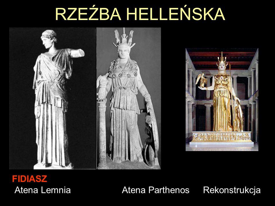 RZEŹBA HELLEŃSKA FIDIASZ Atena Lemnia Atena Parthenos Rekonstrukcja