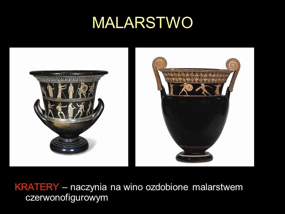 MALARSTWO KRATERY – naczynia na wino ozdobione malarstwem czerwonofigurowym