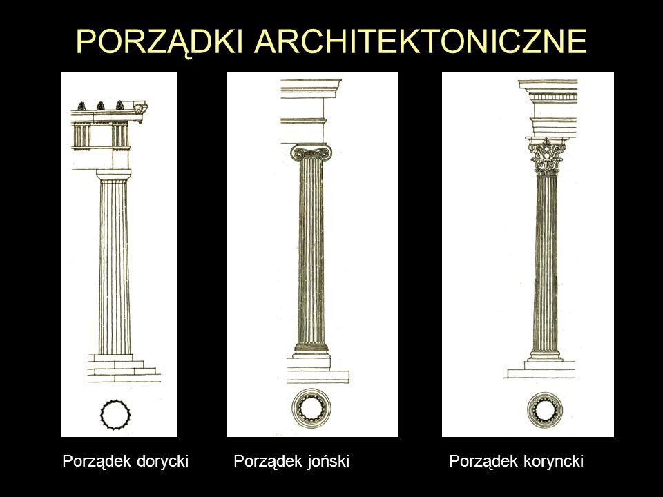 ARCHITEKTURA HELLEŃSKA Rekonstrukcja świątyni Artemidy w Efezie KOLUMNADA kilka lub kilkanaście rzędów kolumn ustawionych w regularnych odstępach, podtrzymujących belkowanie architraw fryz kapitel trzon baza