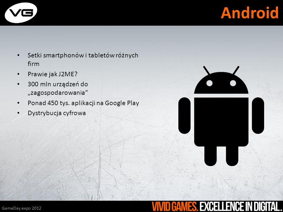 Setki smartphonów i tabletów różnych firm Prawie jak J2ME? 300 mln urządzeń do zagospodarowania Ponad 450 tys. aplikacji na Google Play Dystrybucja cy