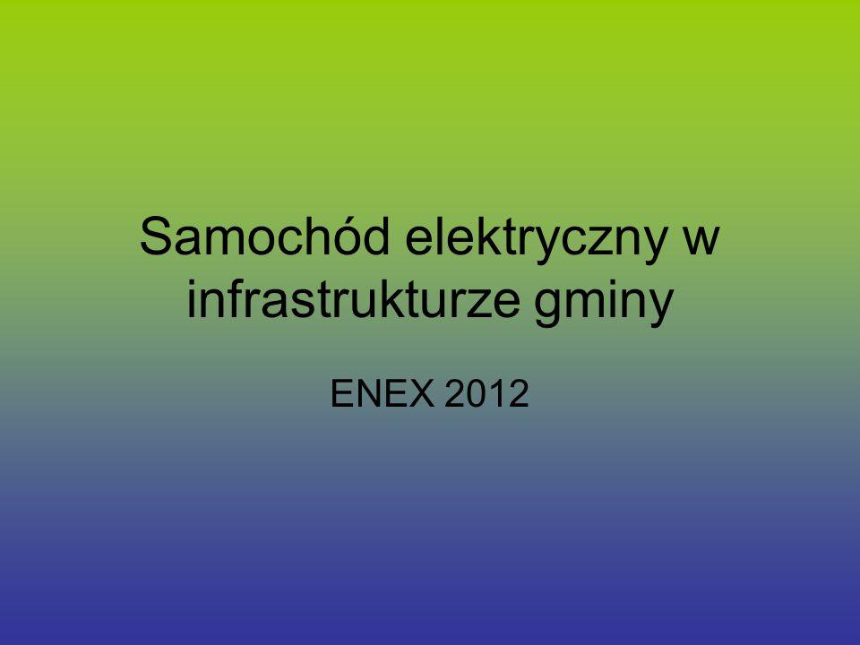 Samochód elektryczny w infrastrukturze gminy ENEX 2012