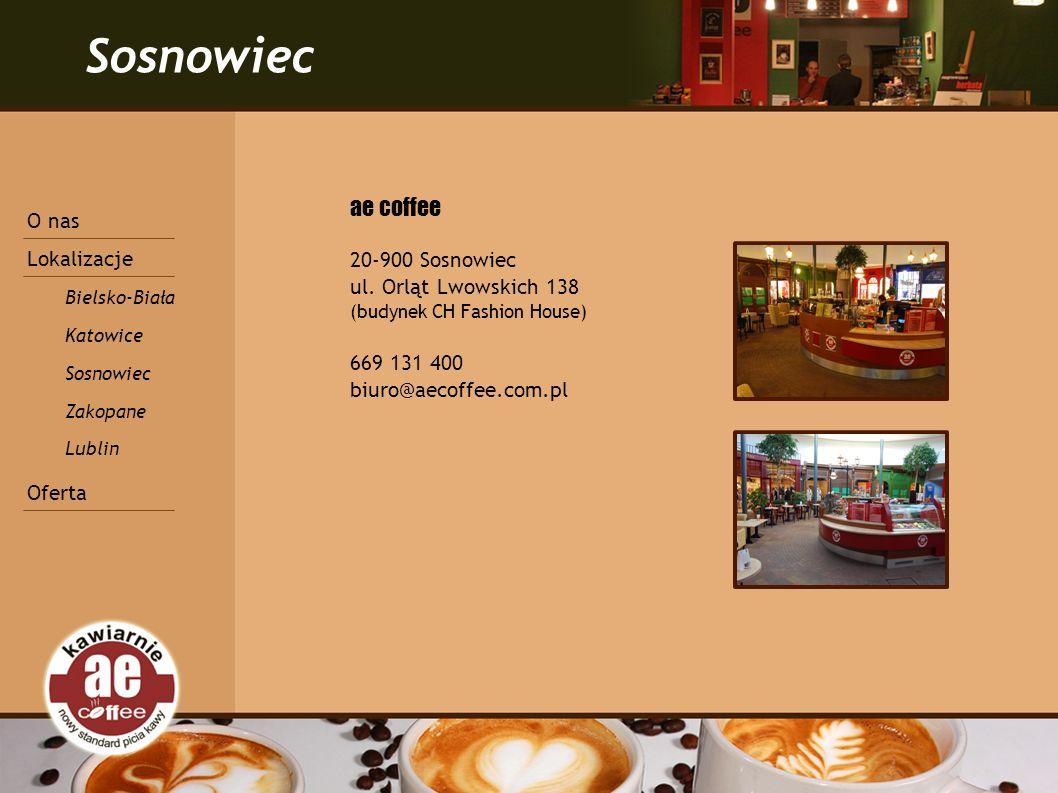 Sosnowiec ae coffee 20-900 Sosnowiec ul.