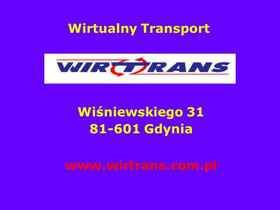 Wirtualny Transport Wiśniewskiego 31 81-601 Gdynia www.wirtrans.com.pl