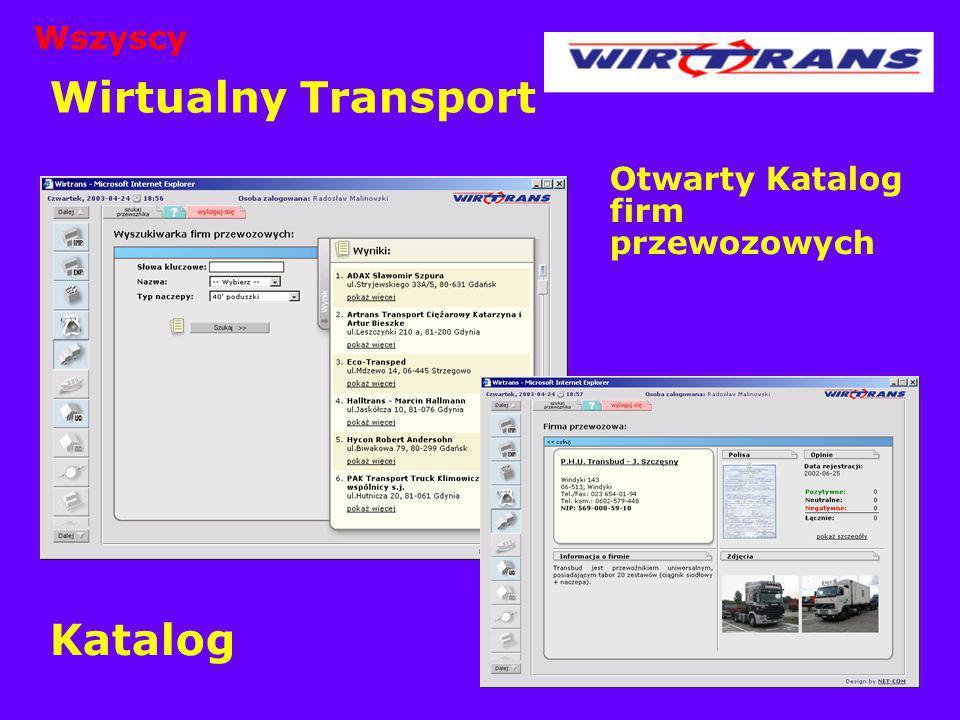 Wirtualny Transport Otwarty Katalog firm przewozowych Katalog Wszyscy
