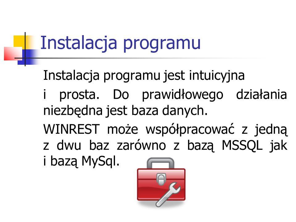 Uruchomienie systemu Prawidłowo uruchomiony program przywita nas oknem menu głównego.