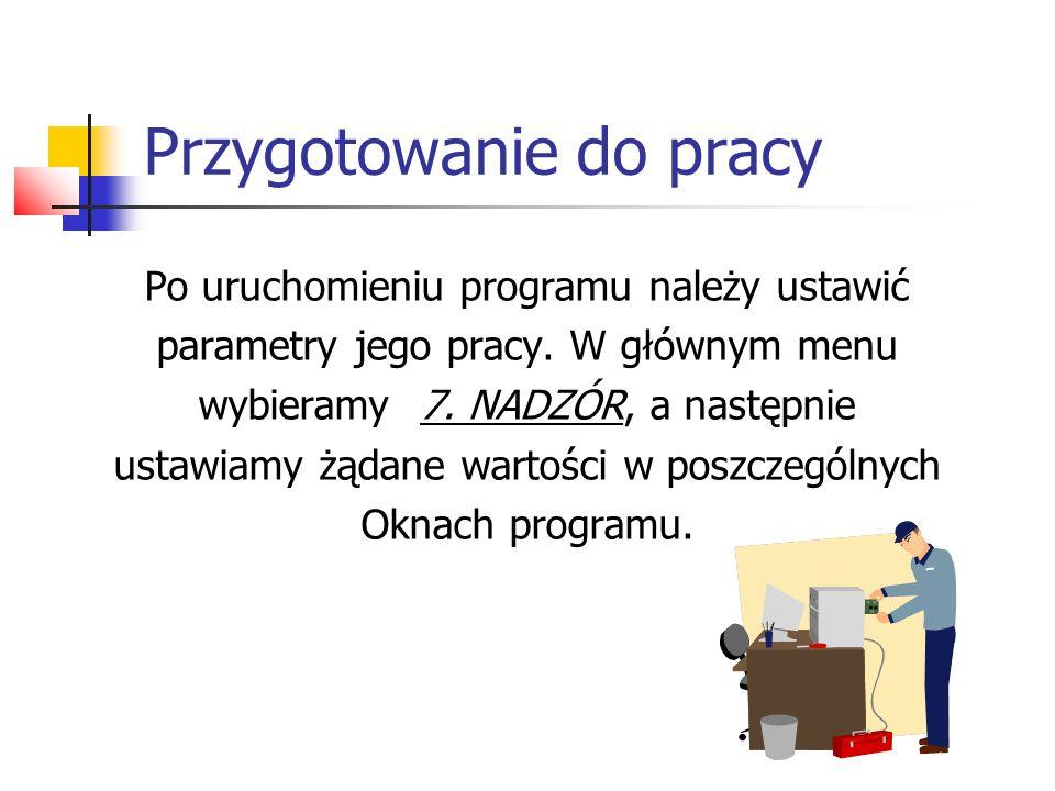 Przygotowanie do pracy Ekran parametrów programu, ustawiamy: stawki VAT nagłówek faktury pracownicy, czyli ich hasła i uprawnienia inne parametry programu