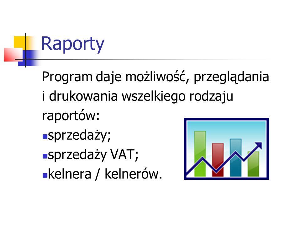 Raport sprzedaży To opcja pozwalającą użytkownikowi na dokonanie zestawienia wartości sprzedaży w wybranym okresie.