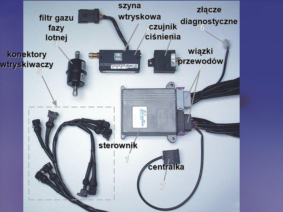 sterownik centralka wiązki przewodów czujnik ciśnienia szynawtryskowa filtr gazu fazy lotnej konektory wtryskiwaczy złączediagnostyczne