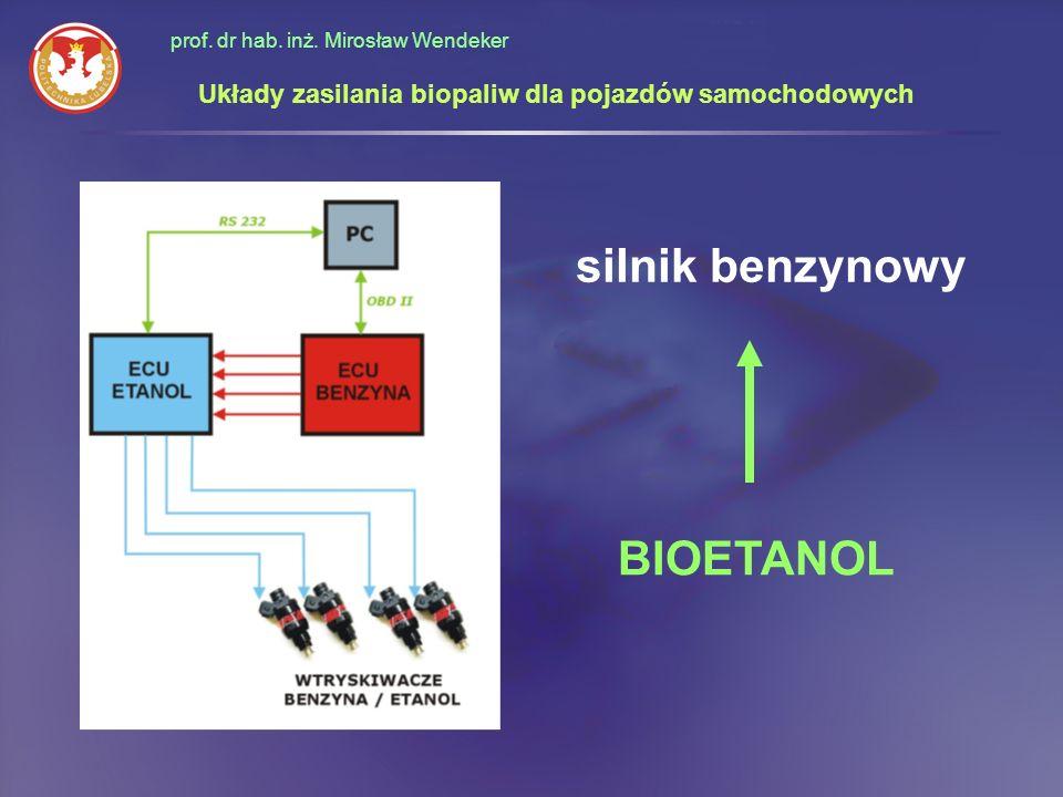 prof. dr hab. inż. Mirosław Wendeker Układy zasilania biopaliw dla pojazdów samochodowych silnik benzynowy BIOETANOL
