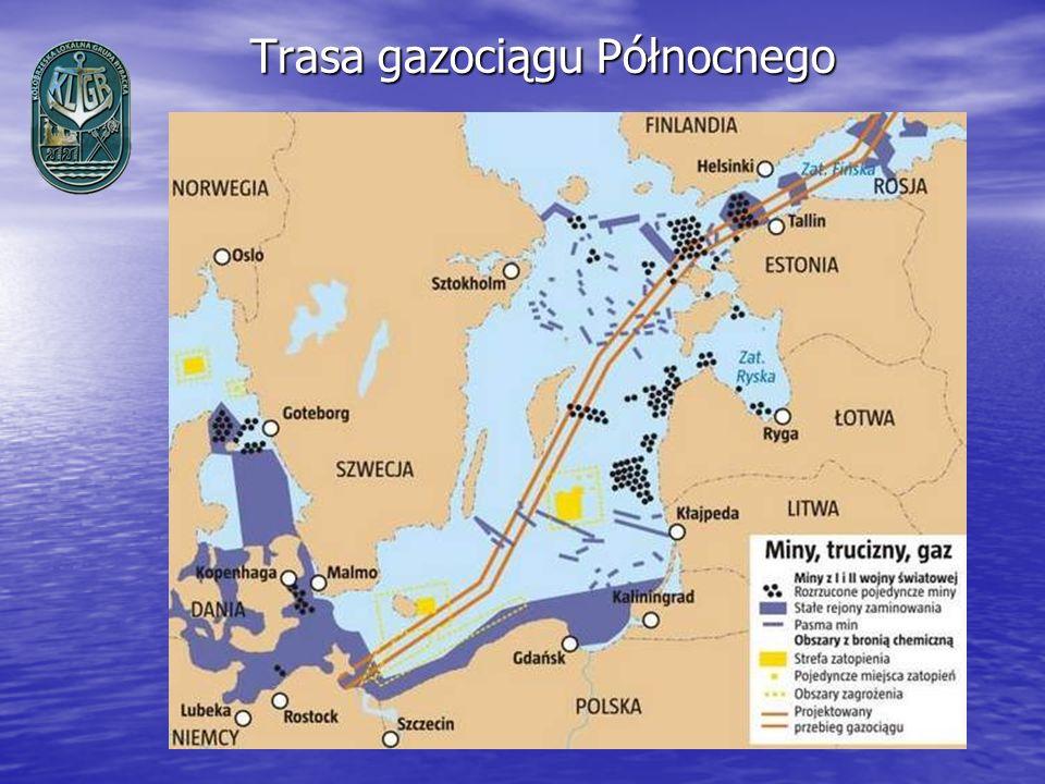 Trasa gazociągu Północnego Trasa gazociągu Północnego