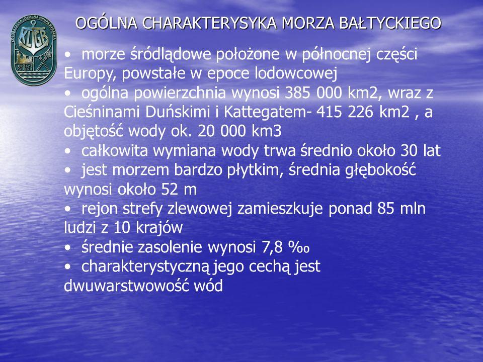 OGÓLNA CHARAKTERYSYKA MORZA BAŁTYCKIEGO morze śródlądowe położone w północnej części Europy, powstałe w epoce lodowcowej ogólna powierzchnia wynosi 38