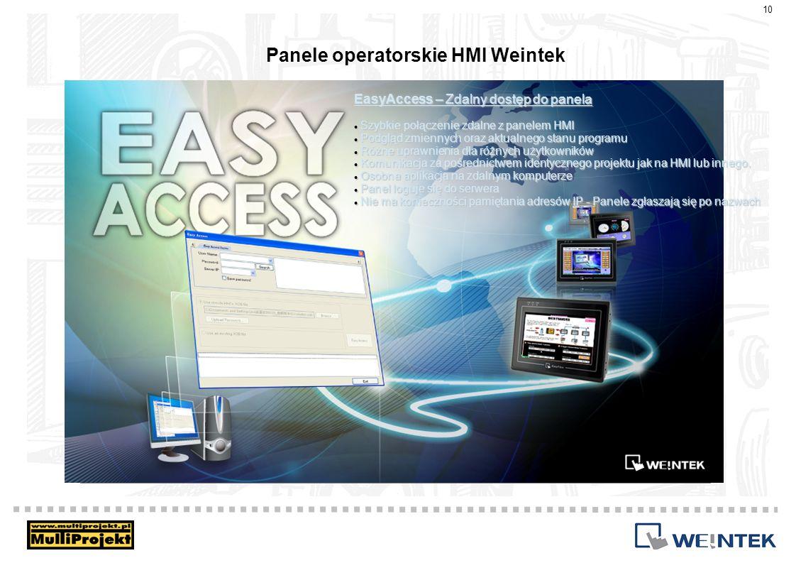 Panele operatorskie HMI Weintek EasyAccess – Zdalny dostęp do panela Szybkie połączenie zdalne z panelem HMI Szybkie połączenie zdalne z panelem HMI P