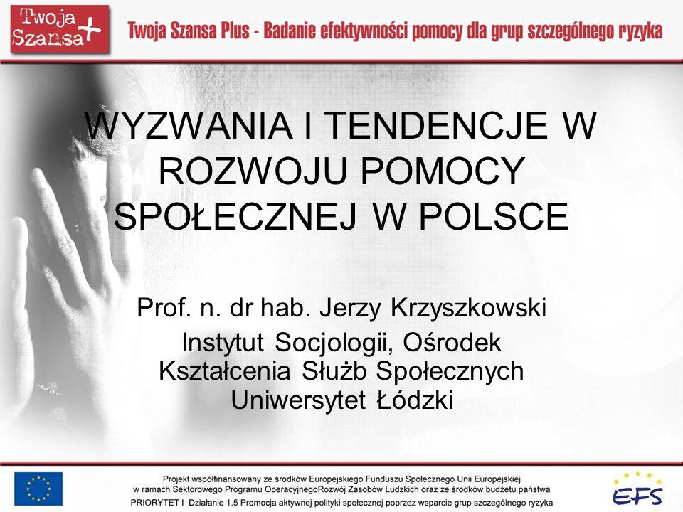 Plan wystąpienia Uzasadnienie wyboru tematu – kryzys i potrzeba zmiany w pomocy społecznej Geneza i ewolucja pomocy społecznej w Polsce i Europie – skąd przychodzimy Reformy i krytyka pomocy społecznej w Polsce po 1989 roku – co się udało Perspektywy i tendencje rozwojowe – co dalej