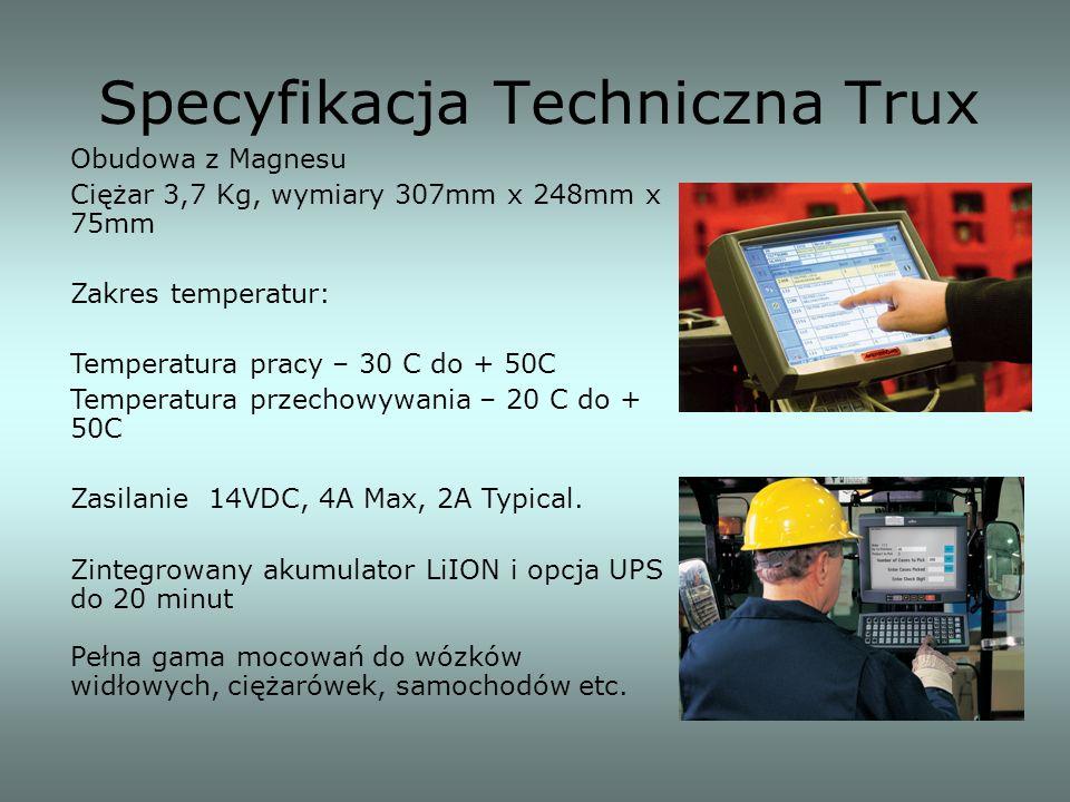 Specyfikacja Techniczna Trux Obudowa z Magnesu Ciężar 3,7 Kg, wymiary 307mm x 248mm x 75mm Zakres temperatur: Temperatura pracy – 30 C do + 50C Temper