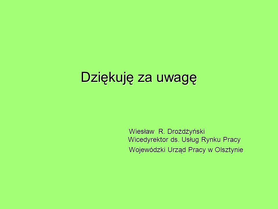 Dziękuję za uwagę Wiesław R.Drożdżyński Wicedyrektor ds.