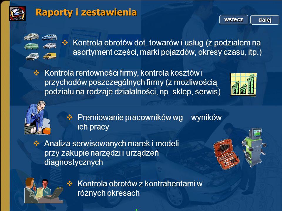 Copyright by Integra Software. Wszelkie prawa zastrzeżone. Raporty i zestawienia Raporty i zestawienia Kontrola rentowności firmy, kontrola kosztów i