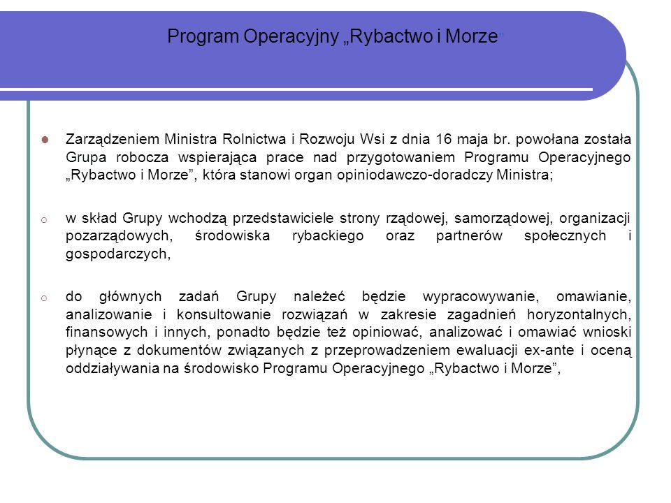 Zarządzeniem Ministra Rolnictwa i Rozwoju Wsi z dnia 16 maja br. powołana została Grupa robocza wspierająca prace nad przygotowaniem Programu Operacyj