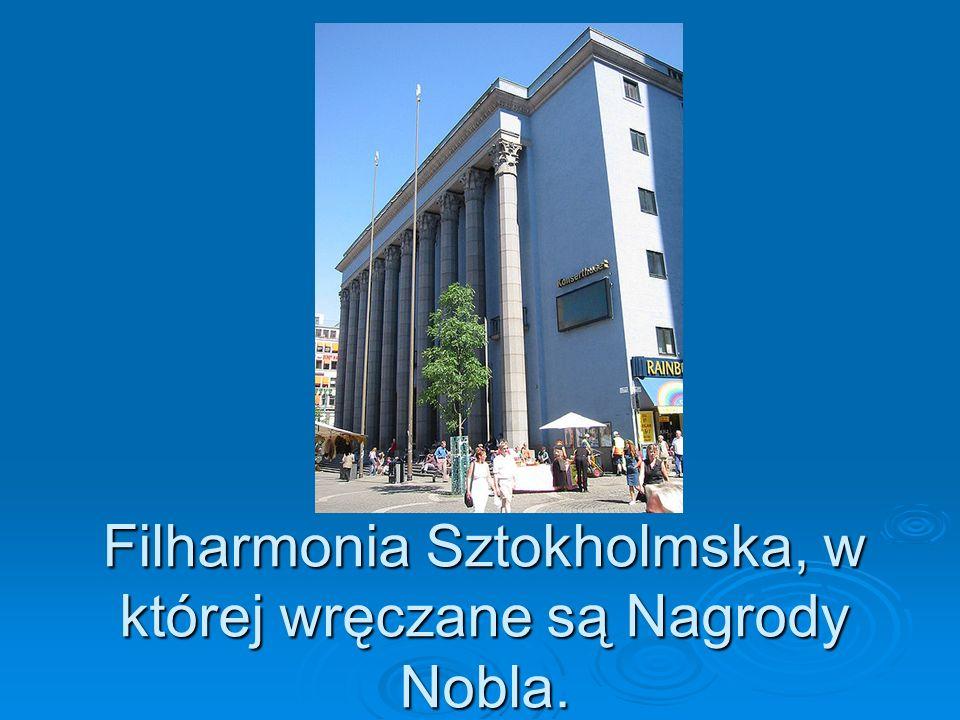 Filharmonia Sztokholmska, w której wręczane są Nagrody Nobla.