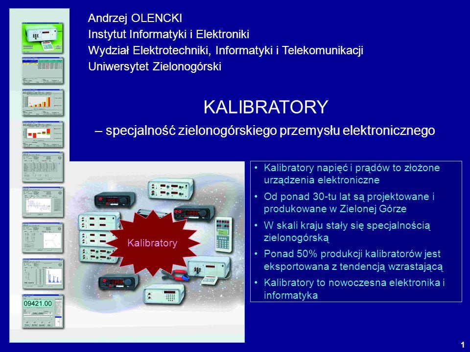 2 FILOZOFIA ADIUSTACJI I SPRAWDZANIA NARZĘDZI POMIAROWYCH Kalibratory wielkości elektrycznych – precyzyjne źródła napięć i prądów odtwarzają U = U ~ I = I ~ f P Q E Dzięki stosowaniu kalibratorów uzyskiwana jest ogromna oszczędność czasu U=1 V...1000V I=10nA...100A f(U AC +I AC )=40Hz...5kHz UMUM WZORZEC UWUW Adiustacja – proces mający na celu U M U W Wzorcowanie – proces mający na celu =U M -U W Sprawdzenie – proces mający na celu =U M -U W < DOP dobry =UM-UW> DOP zły Produkcja Eksploatacja