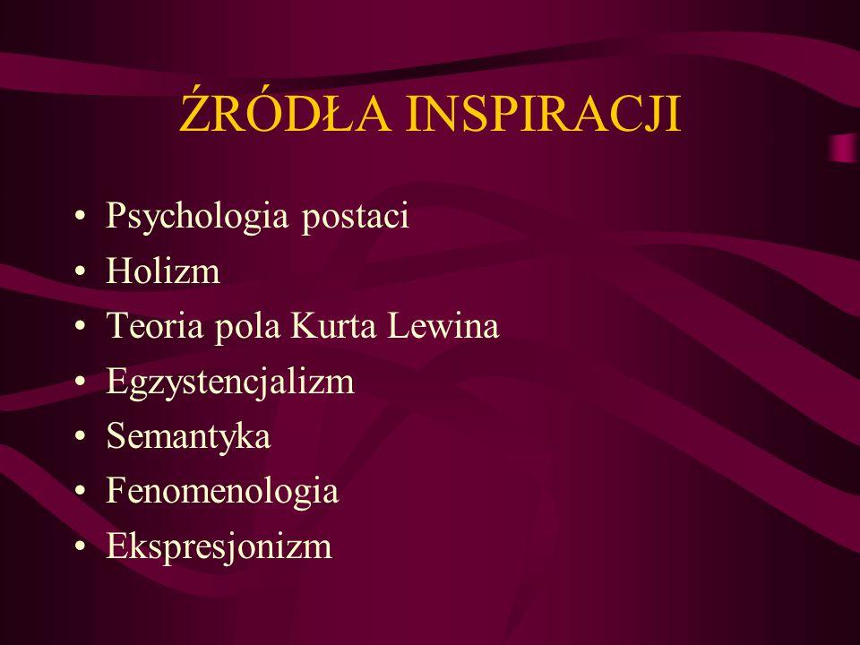 Psychologia postaci (Gestalt) Człowiek posiada zdolność do strukturalizowania docierających do niego bodźców