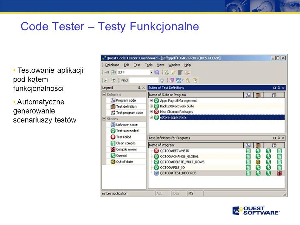 Monitoring i zarządzanie wydajnością Spotlight Performance Analysis Foglight Big Brother Shareplex Space Manager