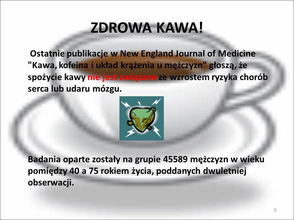 ZDROWA KAWA! 9 Ostatnie publikacje w New England Journal of Medicine