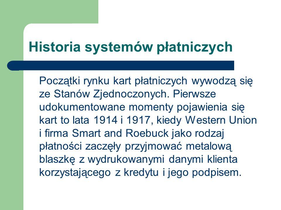 Historia systemów płatniczych Lata 20.
