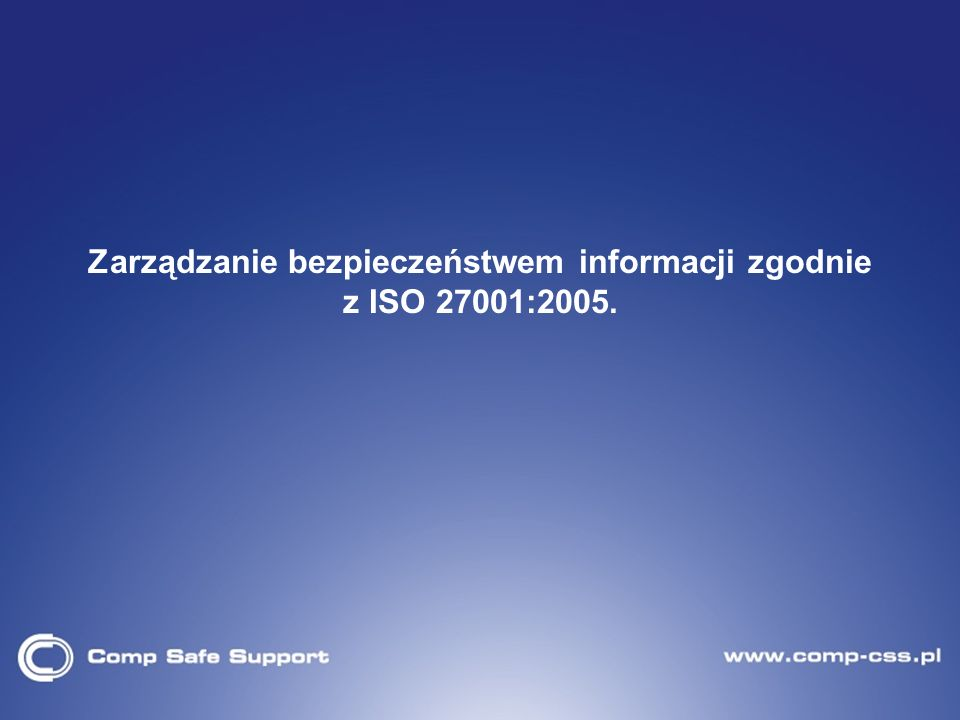 19 Załącznik A do normy ISO 27001 Polityka bezpieczeństwa Organizacja bezpieczeństwa informacji Zarządzanie aktywami Bezpieczeństwo zasobów ludzkich (osobowe) Bezpieczeństwo fizyczne i środowiskowe Zarządzanie systemami i sieciami Kontrola dostępu Pozyskiwanie, rozwój i utrzymanie systemów informacyjnych Zarządzanie incydentami bezpieczeństwa informacji Zarządzanie ciągłością działania Zgodność
