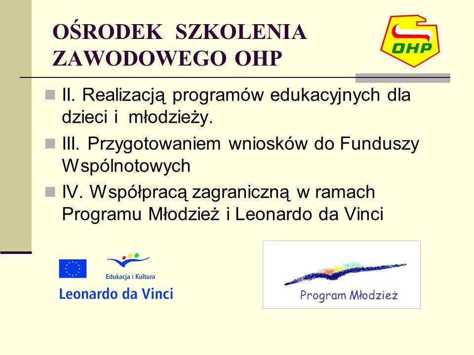 II. Realizacją programów edukacyjnych dla dzieci i młodzieży.
