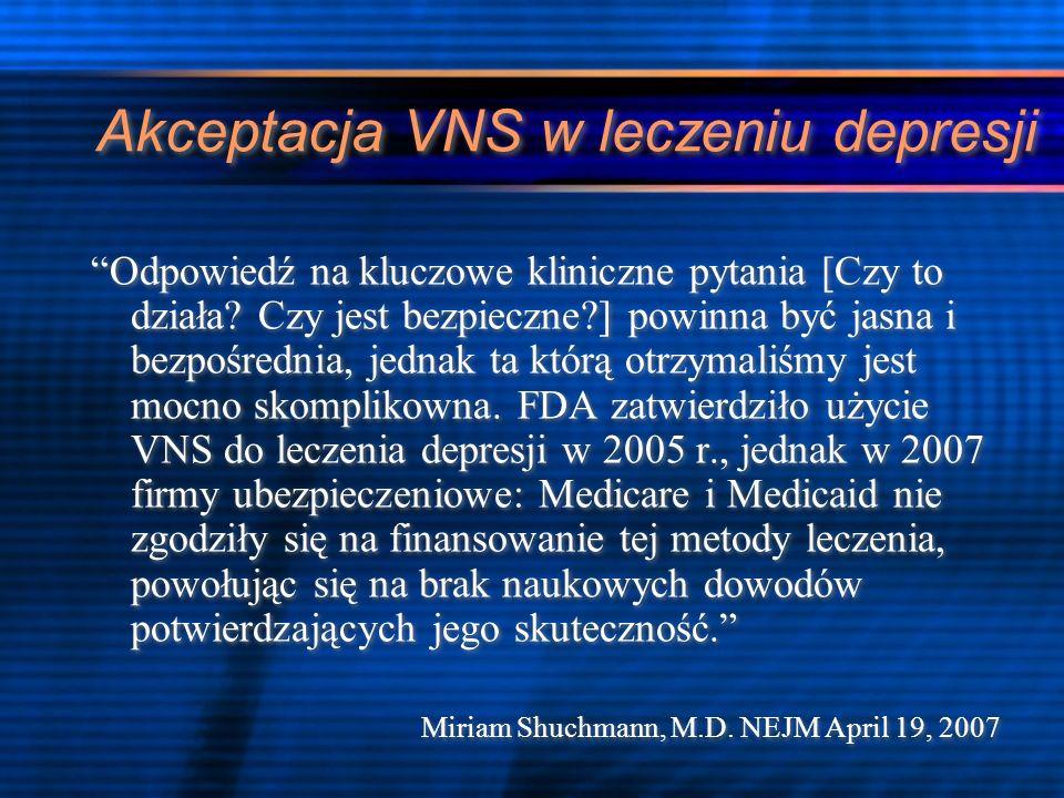Bezpieczeństwo VNS- powikłania leczenia.