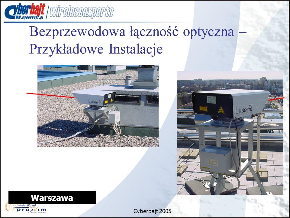 Cyberbajt 2005 Warszawa Bezprzewodowa łączność optyczna – Przykładowe Instalacje