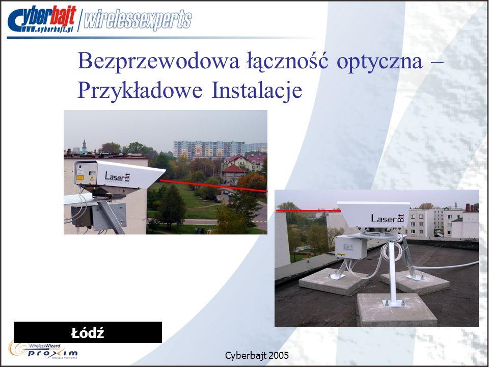 Cyberbajt 2005 Łódź Bezprzewodowa łączność optyczna – Przykładowe Instalacje