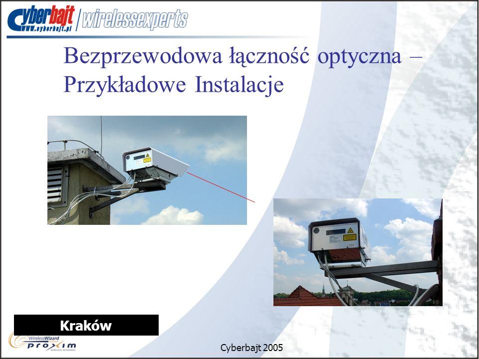 Cyberbajt 2005 Kraków Bezprzewodowa łączność optyczna – Przykładowe Instalacje