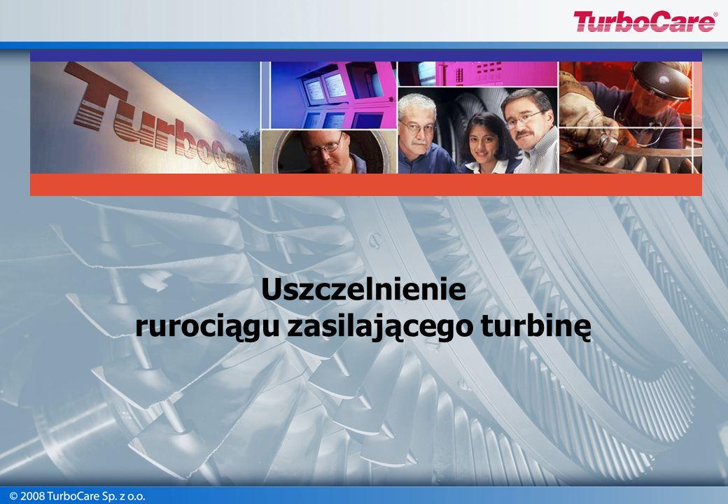 Uszczelnienie rurociągu zasilającego turbinę