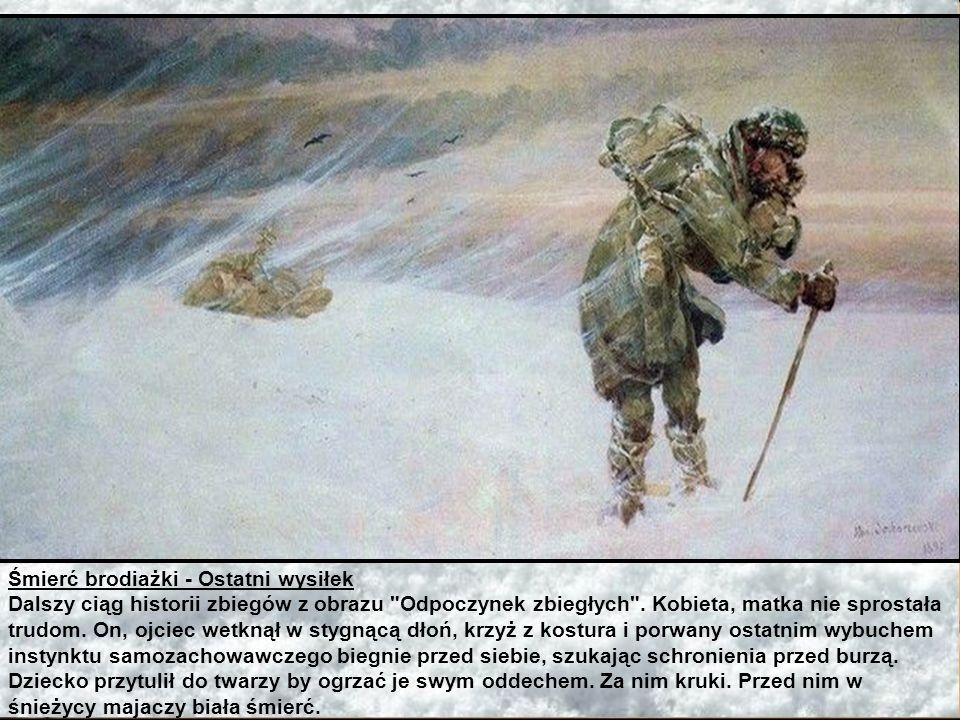Ucieczka więźniów - Ofiary kruków Osoby występujące, to ta sama rodzina zesłańców szukająca drogi do ojczyzny w bezkresnych śniegach Sybiru. Tu pod gr