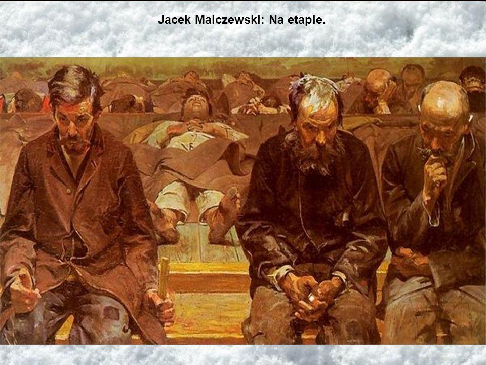 Więźniowie przy pracy Zesłańcy polityczni w Usolskiej warzelni soli, transportujący sól. W głębi zemdlony starzec na taczkach, współtowarzysz podaje m