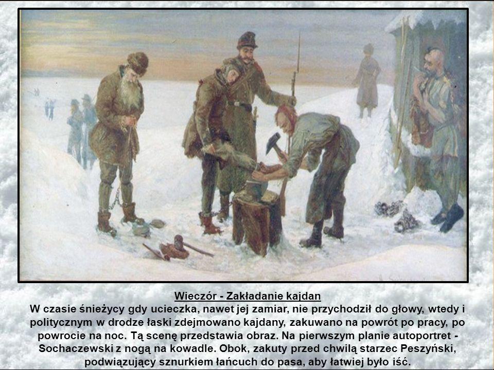 Zesłanie obecne jest w twórczości polskich malarzy: Jacka Malczewskiego, Aleksandra Sochaczewskiego, Artura Grottgera, Artura Nikutowskiego, Piotra St