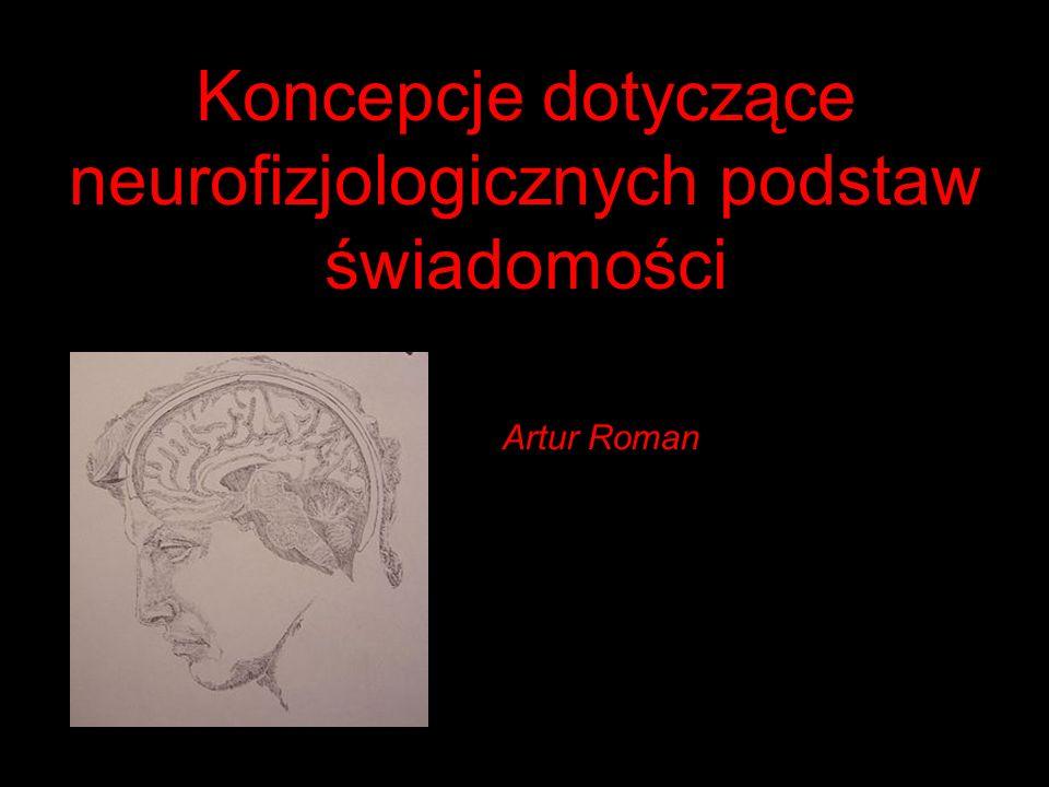 Natura obiektów mentalnych Psychicznym korelatem struktury i funkcji połączeń neuronalnych mózgu jest sieć pojęciowa Pojęcie to wszystko, co może stać się treścią świadomości Pojęcia wraz z przepuszczonymi przez,,interpretator sieci pojęciowej wrażeniami napływającymi z receptorów, mogą stanowić treść subiektywnej sfery psychicznej