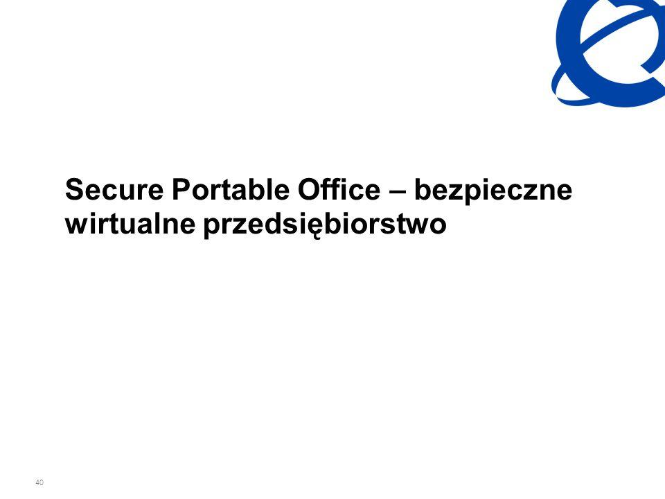 40 Secure Portable Office – bezpieczne wirtualne przedsiębiorstwo