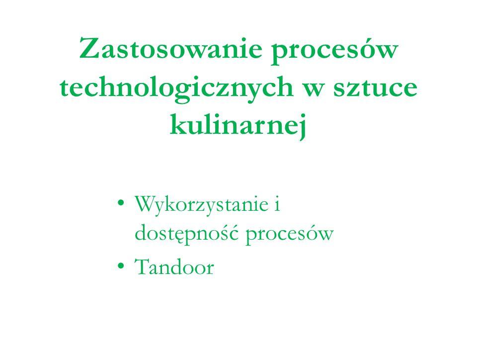 Zastosowanie procesów technologicznych w sztuce kulinarnej Wykorzystanie i dostępność procesów Tandoor