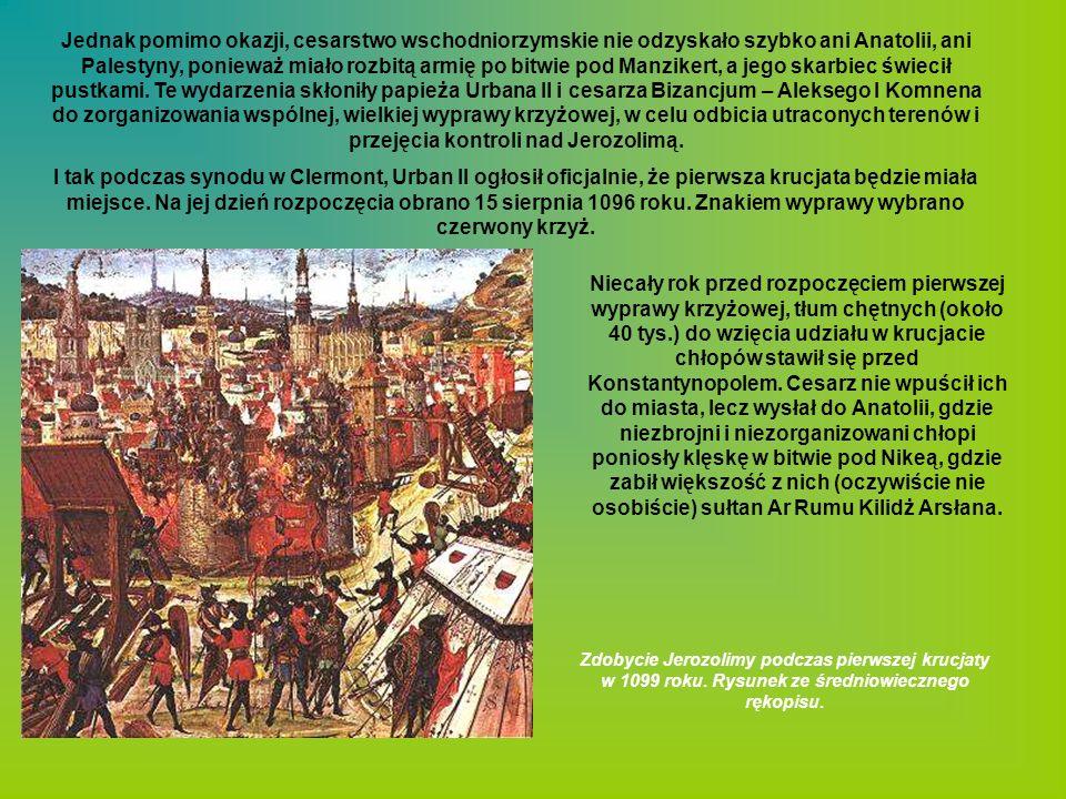 Jednak pomimo okazji, cesarstwo wschodniorzymskie nie odzyskało szybko ani Anatolii, ani Palestyny, ponieważ miało rozbitą armię po bitwie pod Manzike