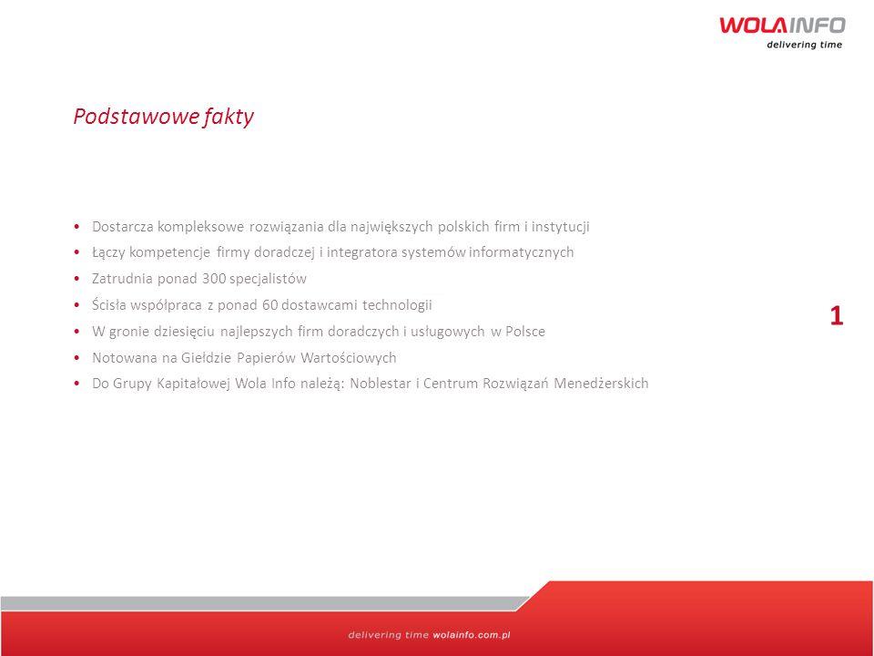 Podstawowe fakty Dostarcza kompleksowe rozwiązania dla największych polskich firm i instytucji Łączy kompetencje firmy doradczej i integratora systemó