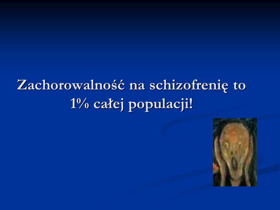 Zachorowalność na schizofrenię to 1% całej populacji!