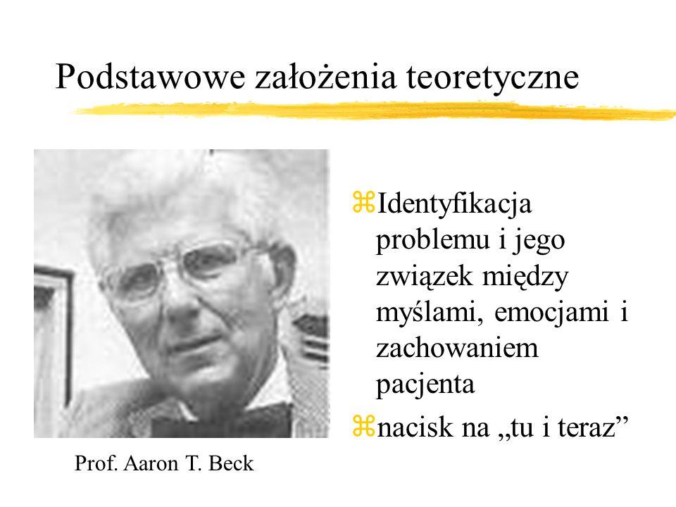 Z kart historii... zWczesne lata 60. XX wieku. Aaron T. Beck opracowuje terapię poznawczą z1962 r. - Albert Ellis, terapia racjonalno- emotywna z1976