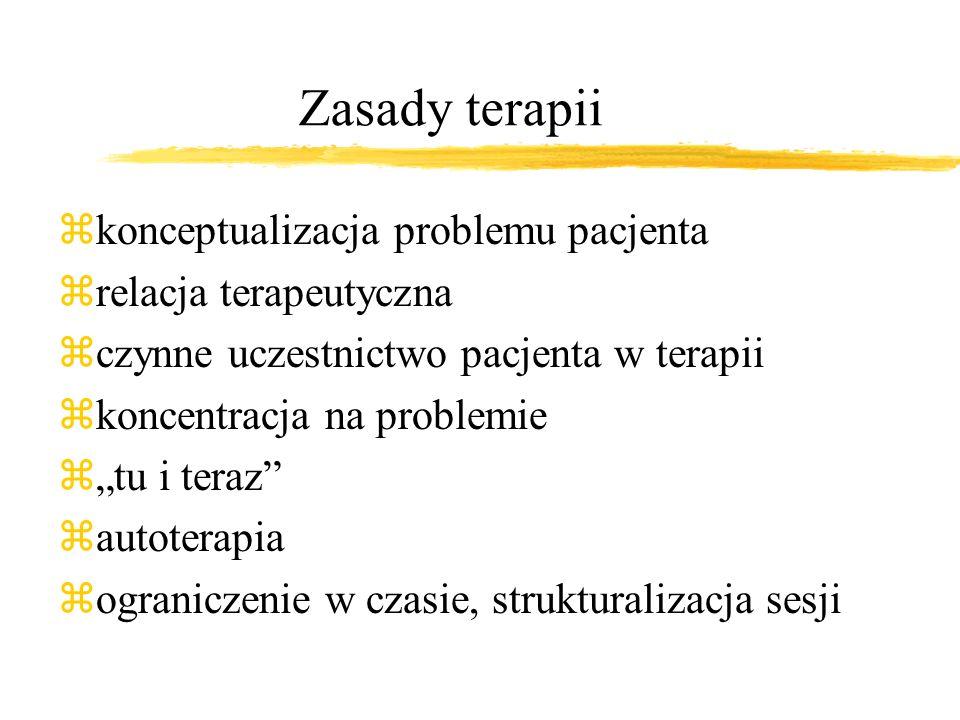 Podstawowe założenia teoretyczne zIdentyfikacja problemu i jego związek między myślami, emocjami i zachowaniem pacjenta znacisk na tu i teraz Prof. Aa