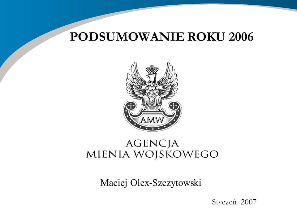 Maciej Olex-Szczytowski Styczeń 2007 PODSUMOWANIE ROKU 2006